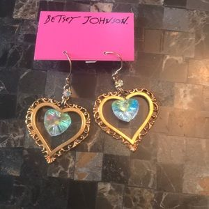 Betsey Johnson heart earrings